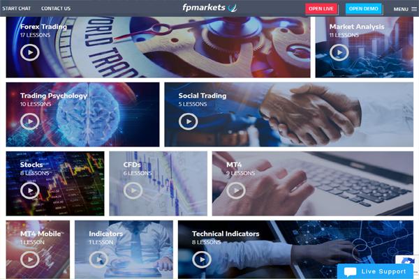 FP Markets screen shot