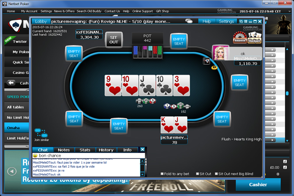 NetBet Poker screen shot